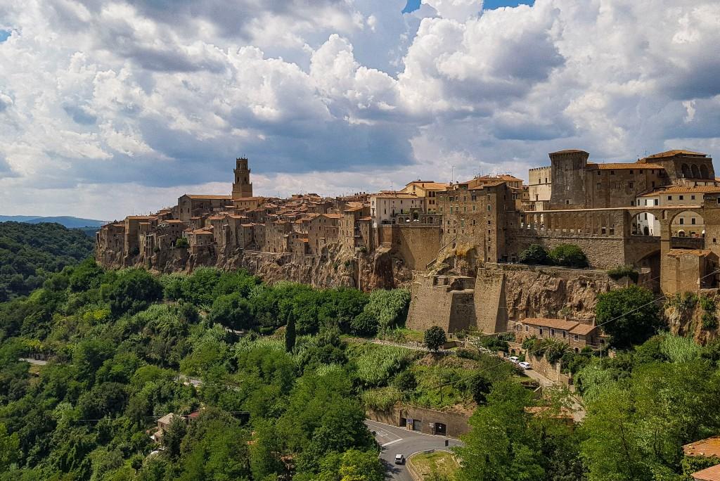 Vista Panoramica della cittadina di Pitigliano